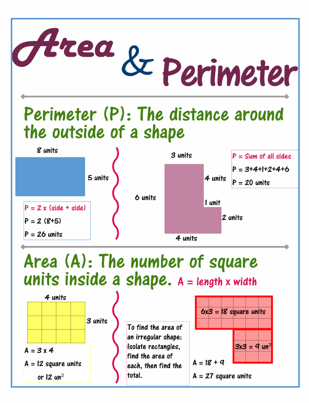 Dashing image pertaining to area and perimeter word problems 4th grade printable